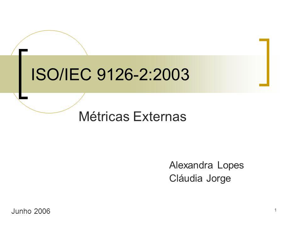 Métricas Externas Alexandra Lopes Cláudia Jorge