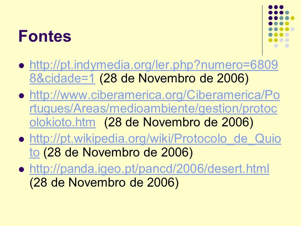 Fontes http://pt.indymedia.org/ler.php numero=68098&cidade=1 (28 de Novembro de 2006)
