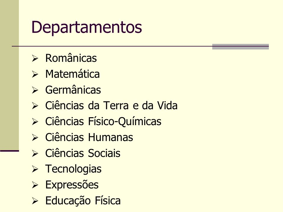 Departamentos Românicas Matemática Germânicas