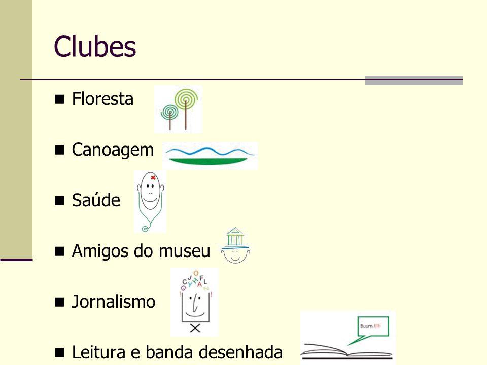 Clubes Floresta Canoagem Saúde Amigos do museu Jornalismo