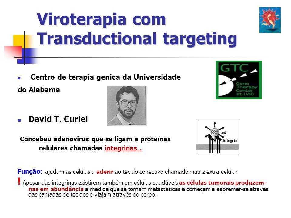 Viroterapia com Transductional targeting