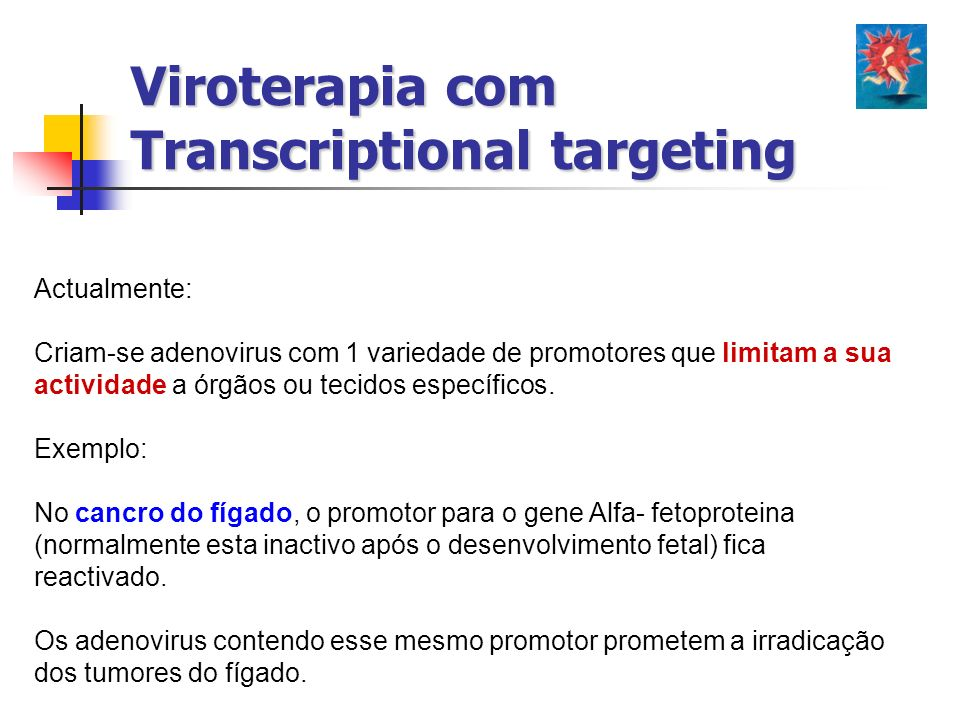 Viroterapia com Transcriptional targeting