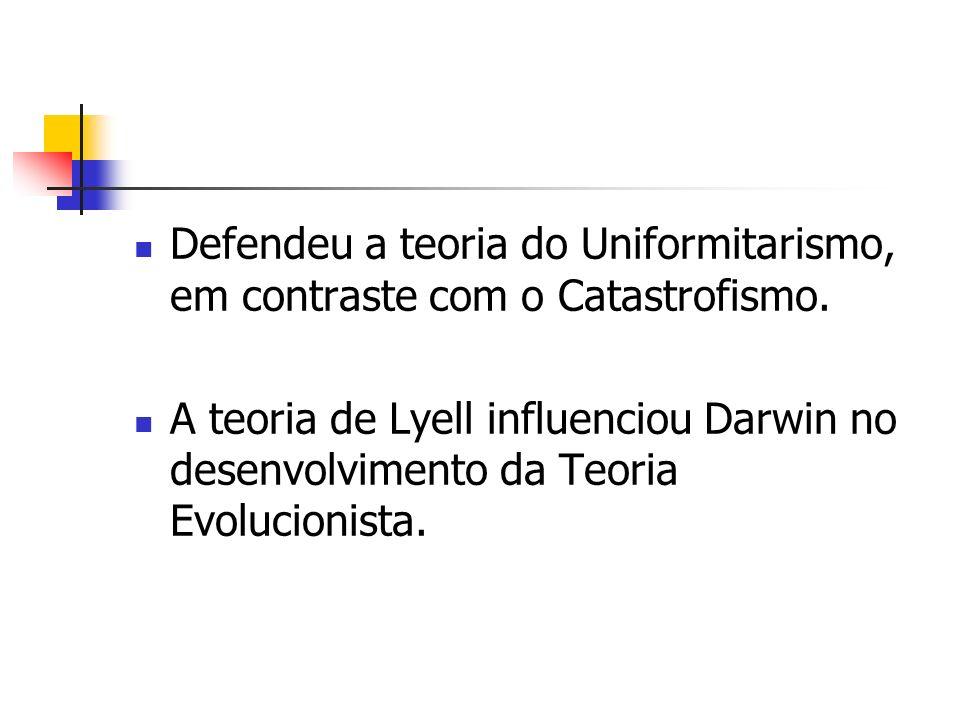 Defendeu a teoria do Uniformitarismo, em contraste com o Catastrofismo.