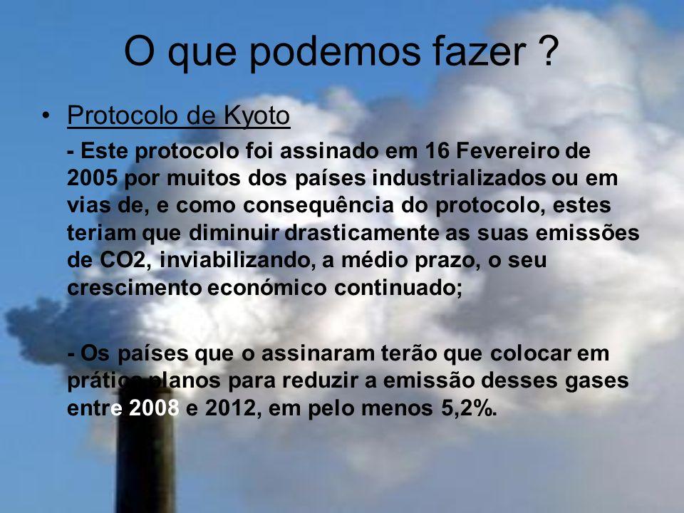 O que podemos fazer Protocolo de Kyoto
