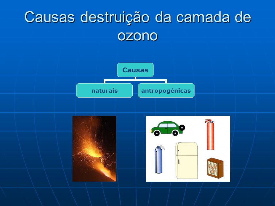 Causas destruição da camada de ozono