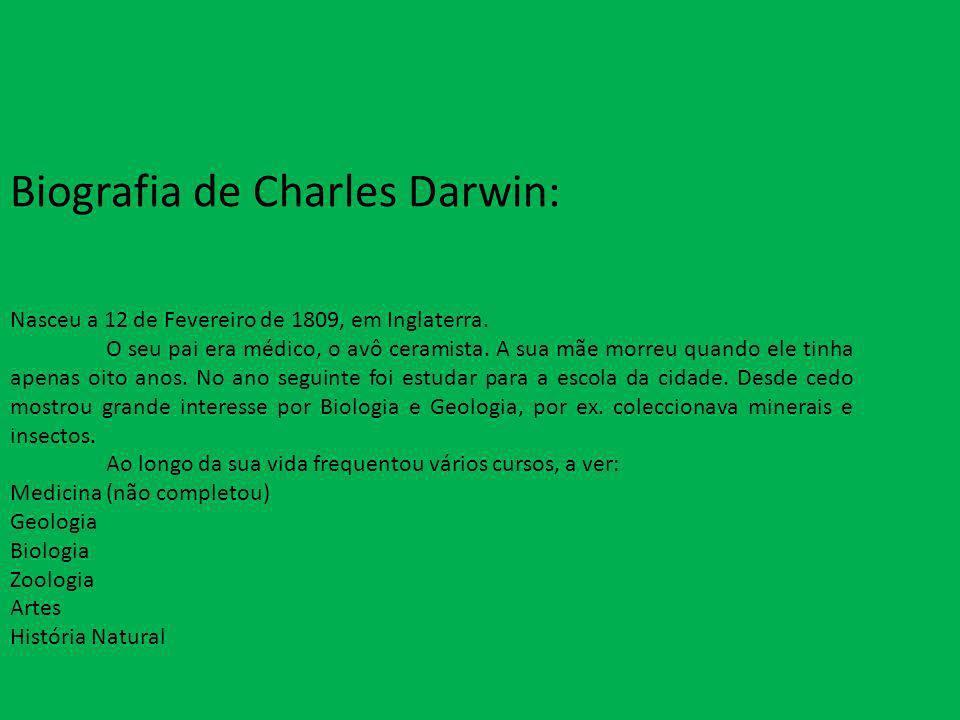 Biografia de Charles Darwin: