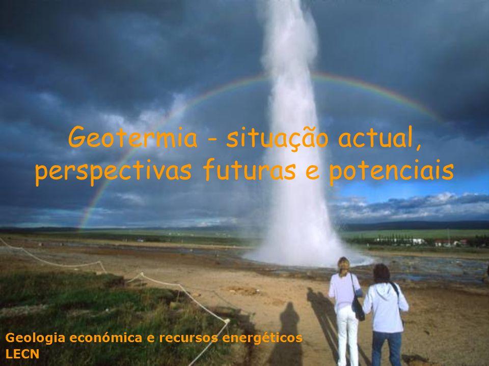 Geotermia - situação actual, perspectivas futuras e potenciais