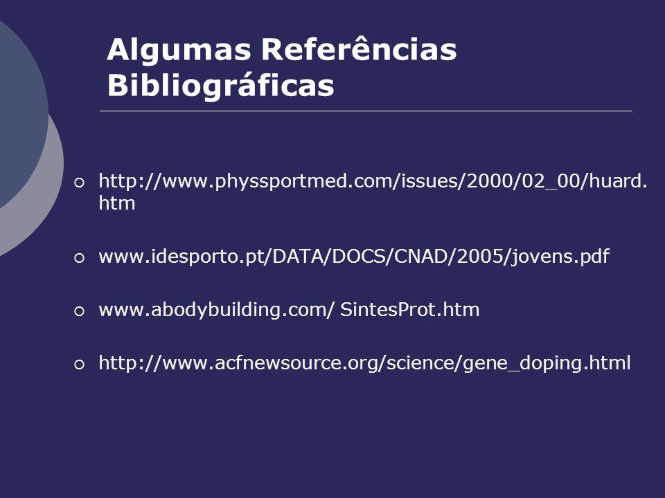 Algumas Referências Bibliográficas