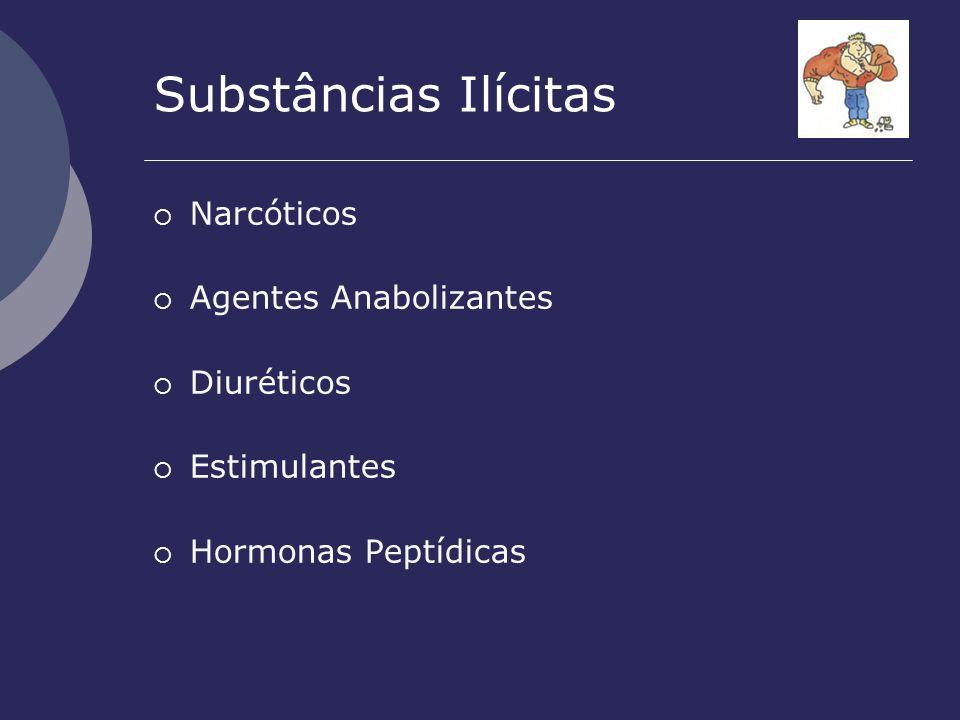 Substâncias Ilícitas Narcóticos Agentes Anabolizantes Diuréticos