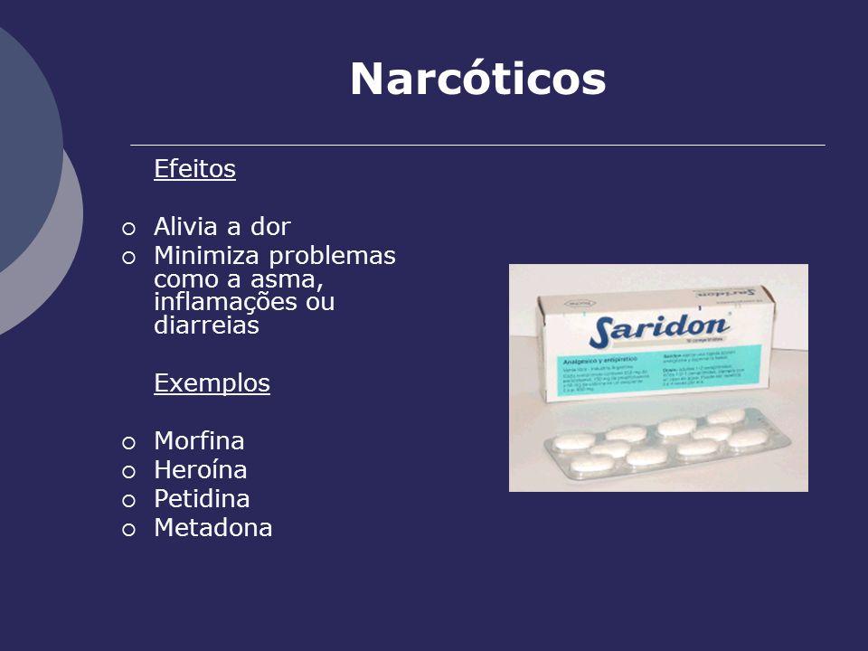 Narcóticos Alivia a dor