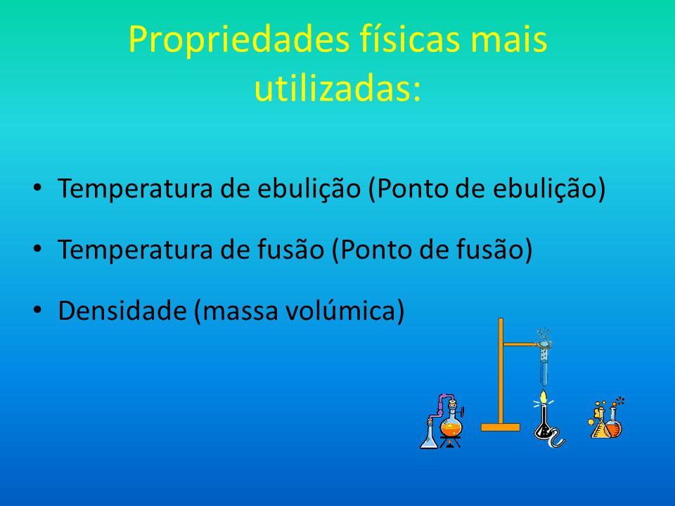 Propriedades físicas mais utilizadas: