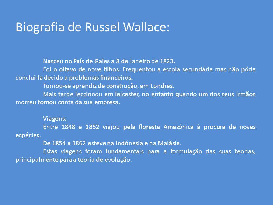Biografia de Russel Wallace: