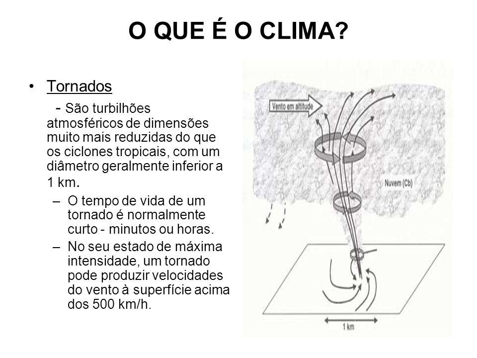 O QUE É O CLIMA Tornados.