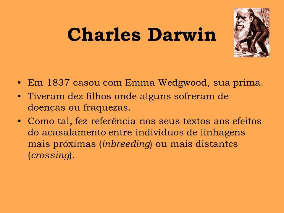 Charles Darwin Em 1837 casou com Emma Wedgwood, sua prima.