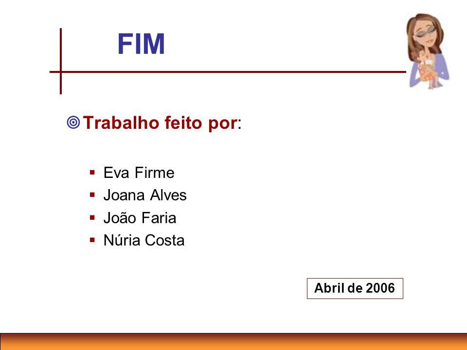 FIM Trabalho feito por: Eva Firme Joana Alves João Faria Núria Costa