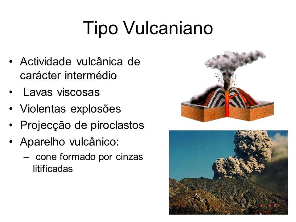 Tipo Vulcaniano Actividade vulcânica de carácter intermédio