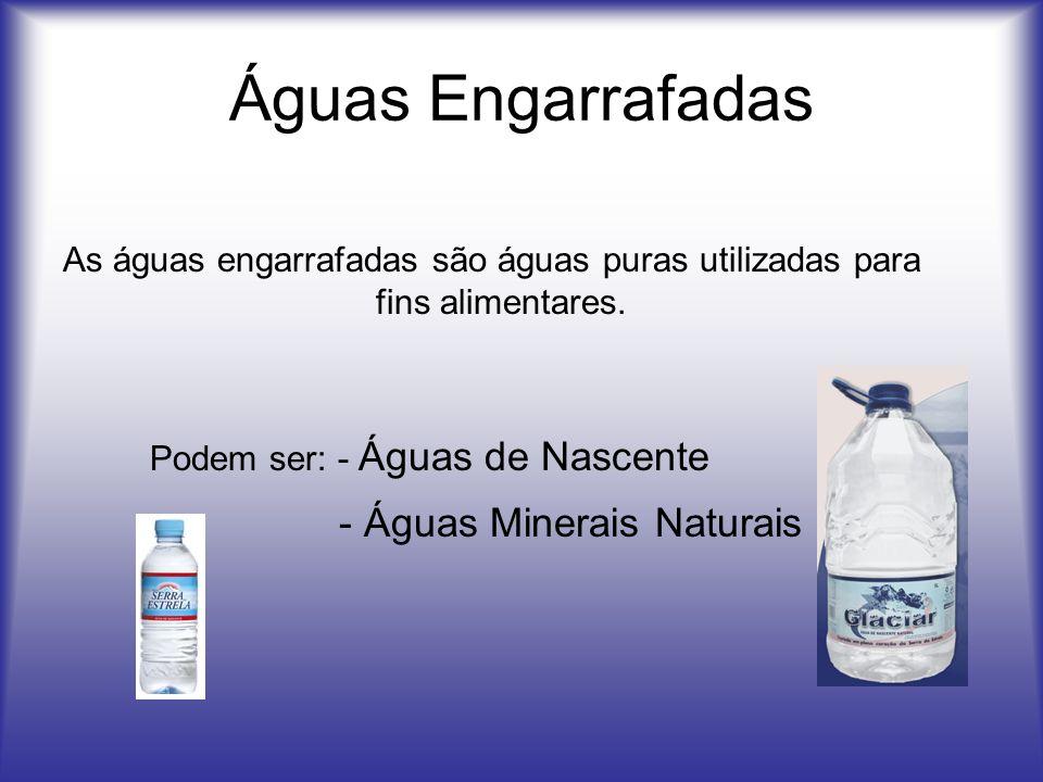 Águas Engarrafadas - Águas Minerais Naturais