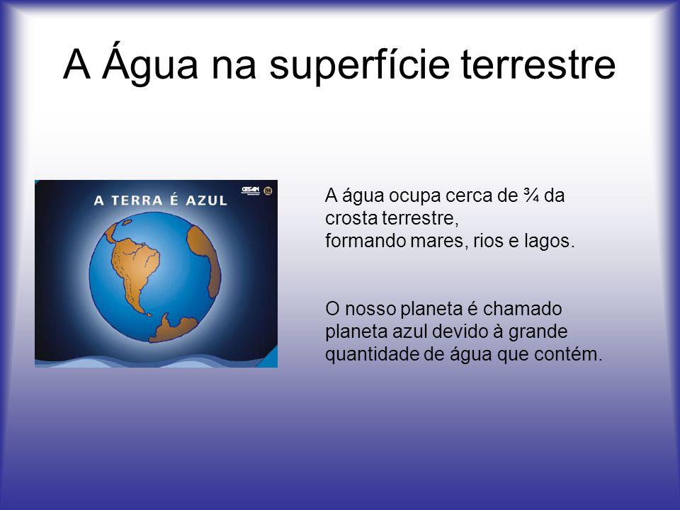 A Água na superfície terrestre