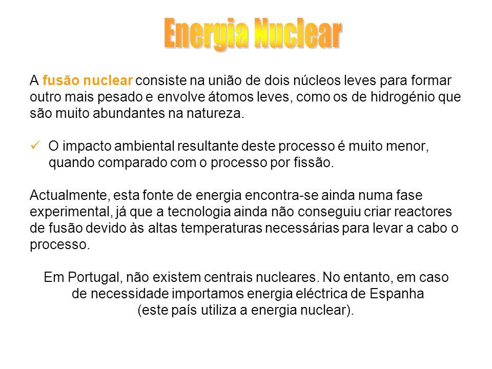 Energia Nuclear A fusão nuclear consiste na união de dois núcleos leves para formar.