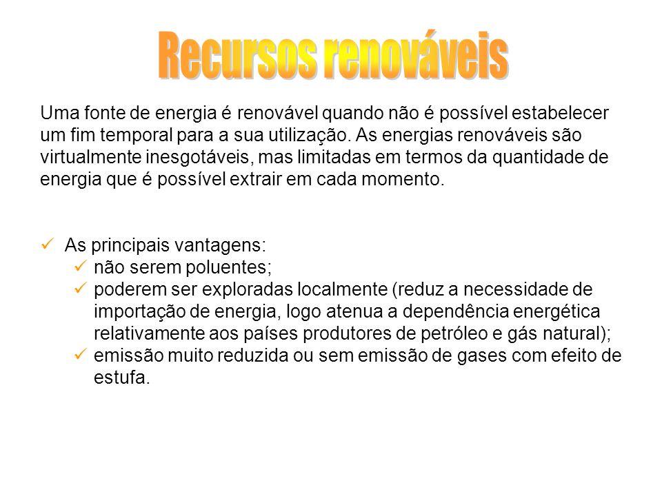Recursos renováveis Uma fonte de energia é renovável quando não é possível estabelecer.