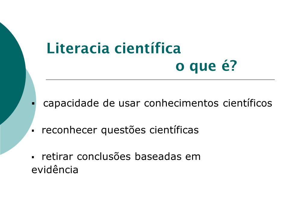 Literacia científica o que é