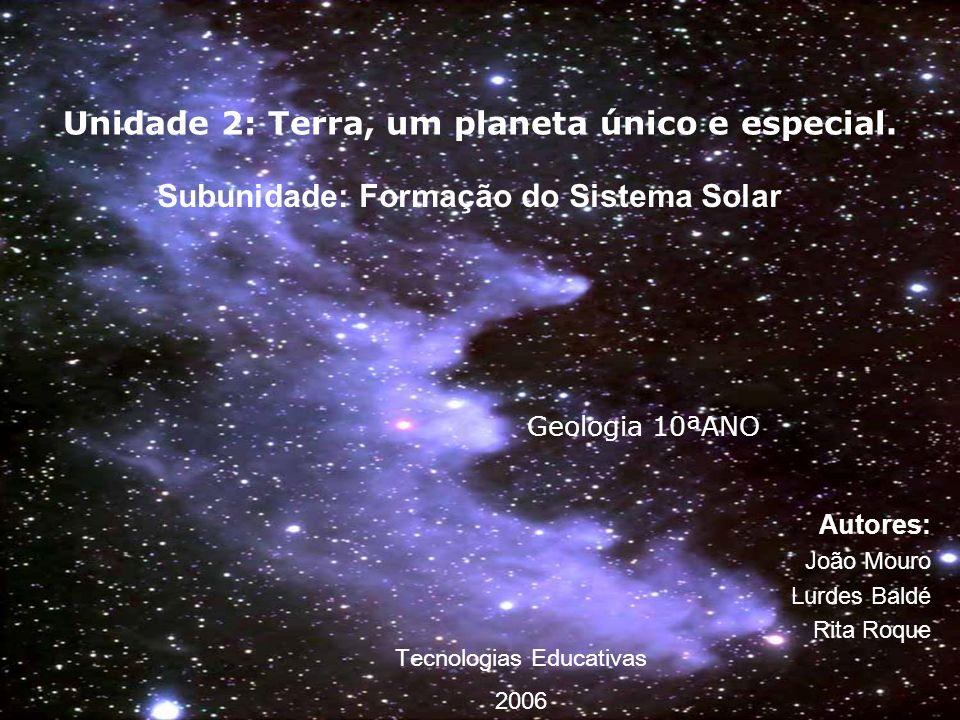Unidade 2: Terra, um planeta único e especial.