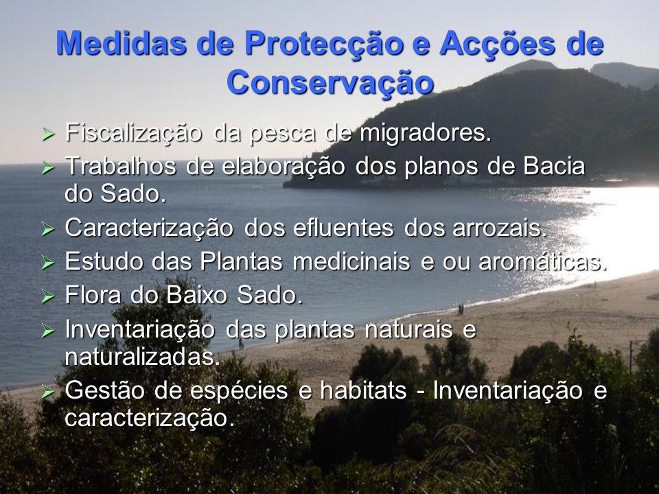 Medidas de Protecção e Acções de Conservação