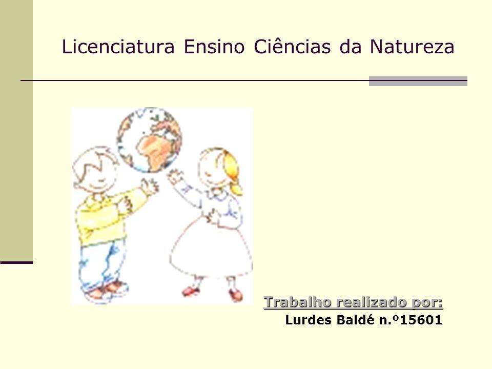 Licenciatura Ensino Ciências da Natureza