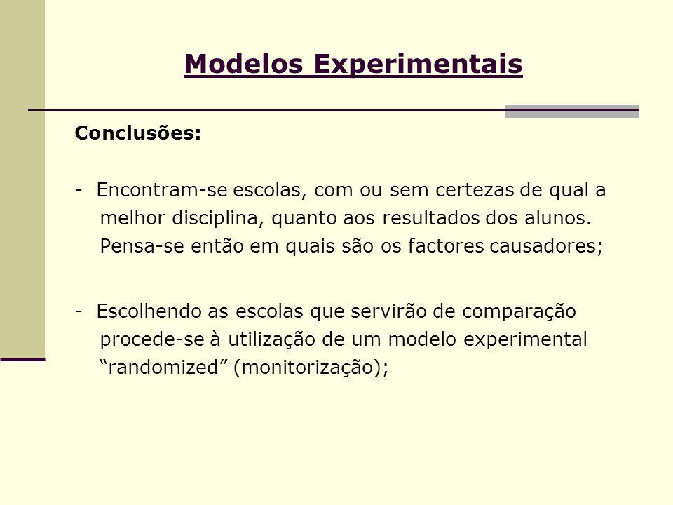 Modelos Experimentais