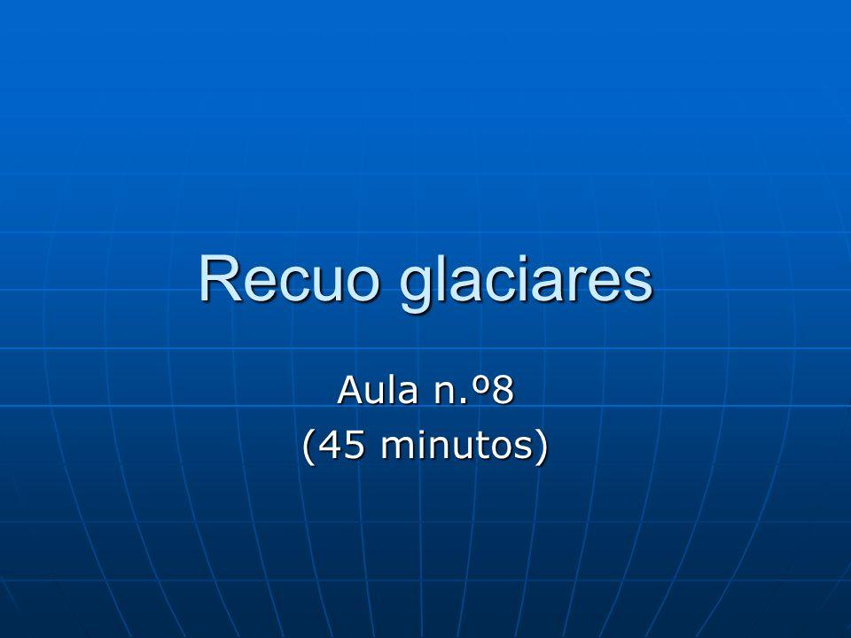 Recuo glaciares Aula n.º8 (45 minutos)
