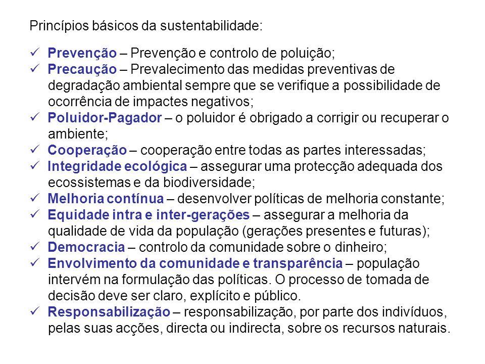 Princípios básicos da sustentabilidade: