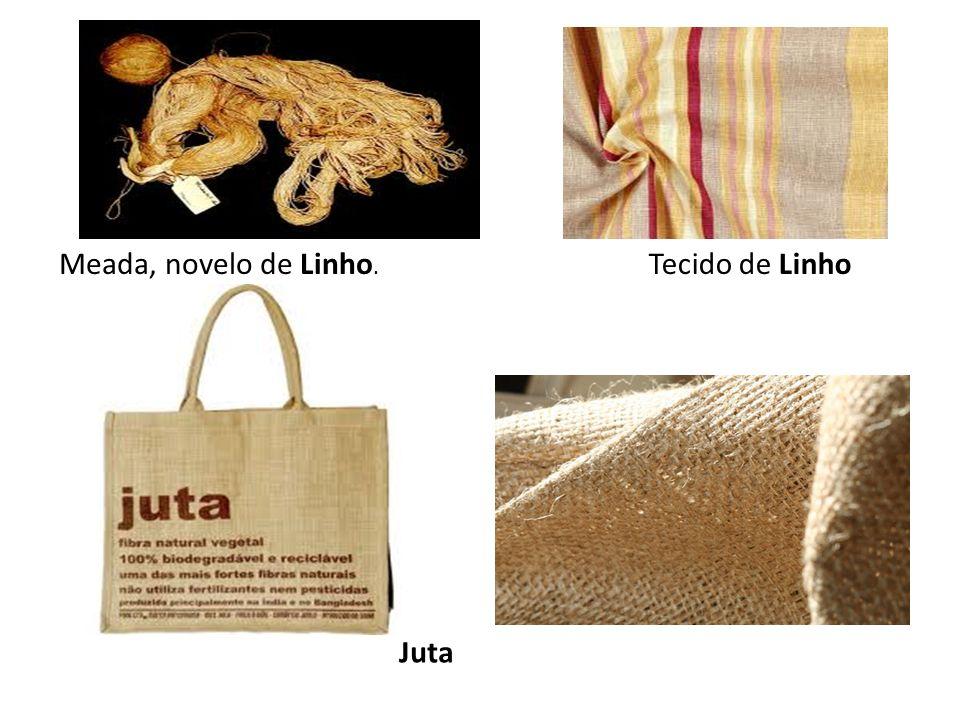 Meada, novelo de Linho. Tecido de Linho Juta