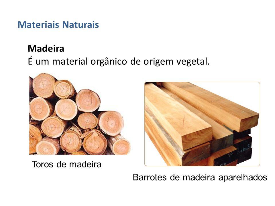 É um material orgânico de origem vegetal.
