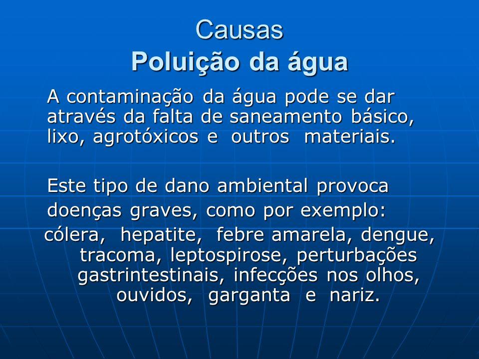 Causas Poluição da água