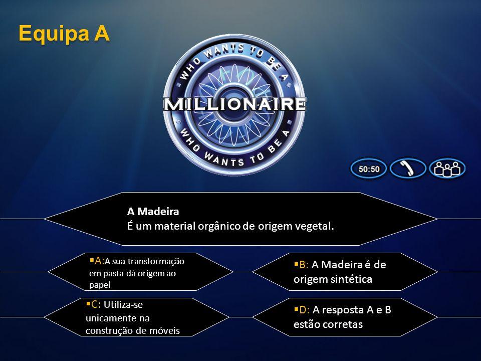 Equipa A A Madeira É um material orgânico de origem vegetal.