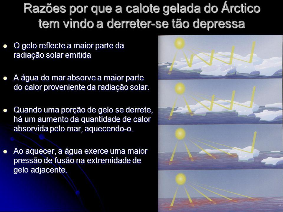 Razões por que a calote gelada do Árctico tem vindo a derreter-se tão depressa