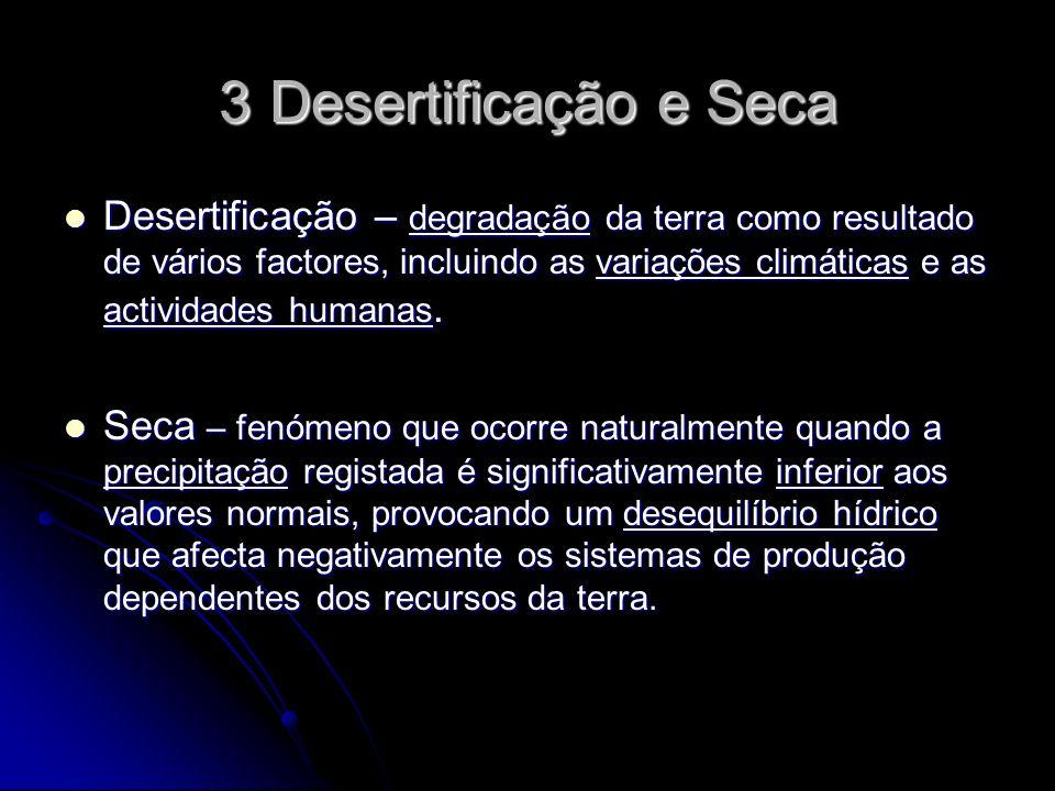 3 Desertificação e Seca