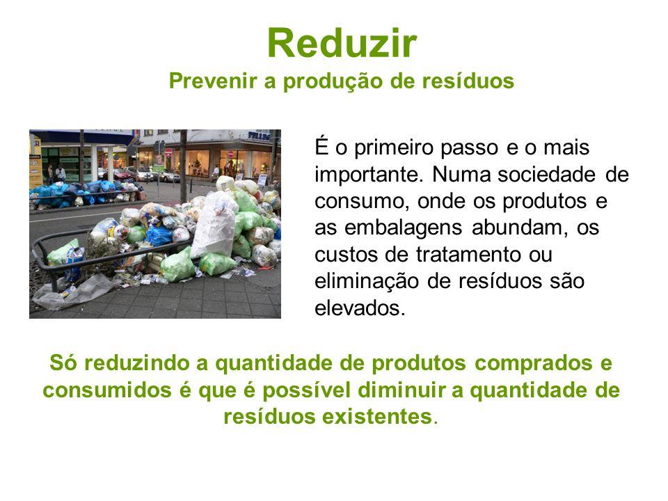 Prevenir a produção de resíduos
