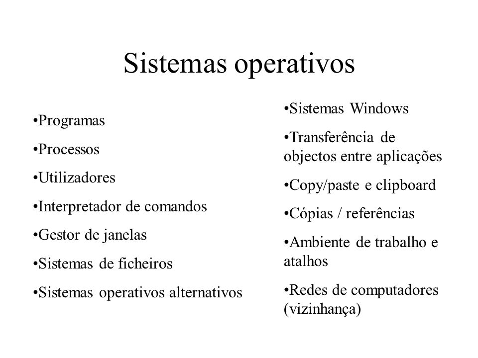 Sistemas operativos Sistemas Windows