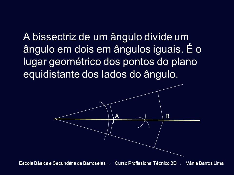 A bissectriz de um ângulo divide um ângulo em dois em ângulos iguais