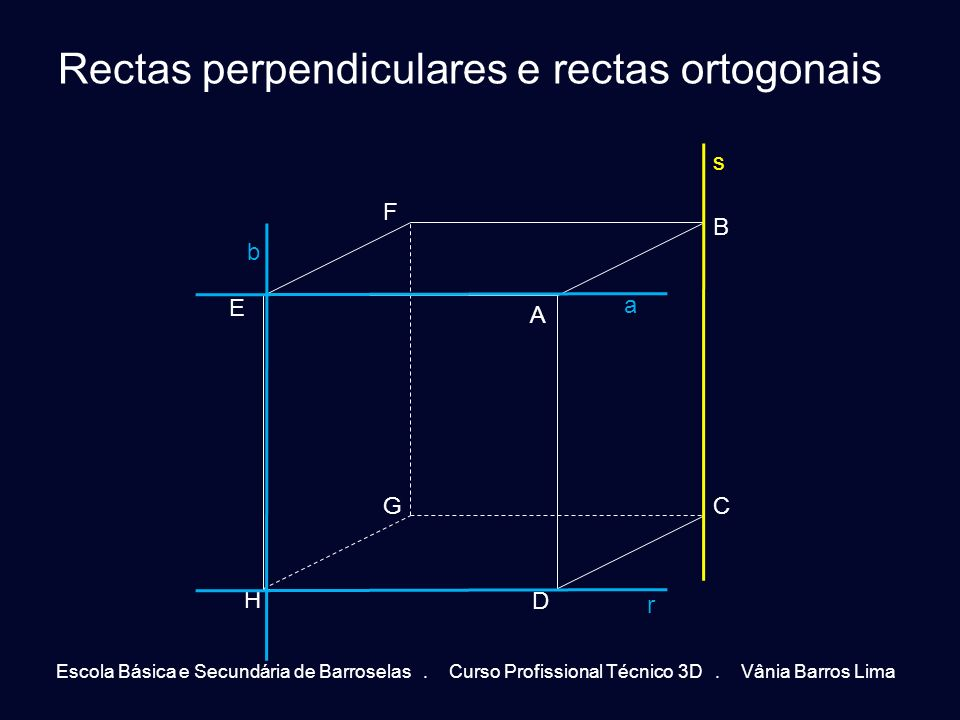 Rectas perpendiculares e rectas ortogonais