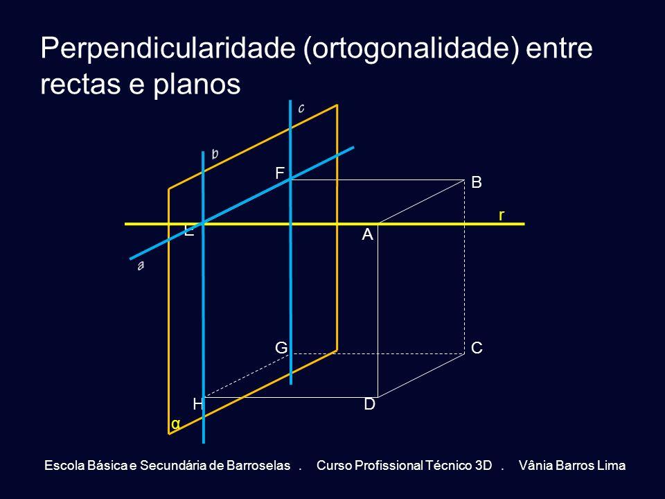 Perpendicularidade (ortogonalidade) entre rectas e planos