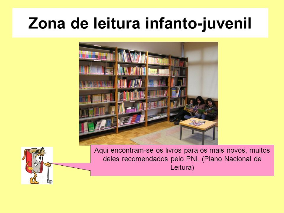 Zona de leitura infanto-juvenil