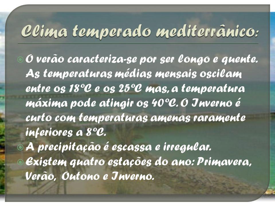 Clima temperado mediterrânico:
