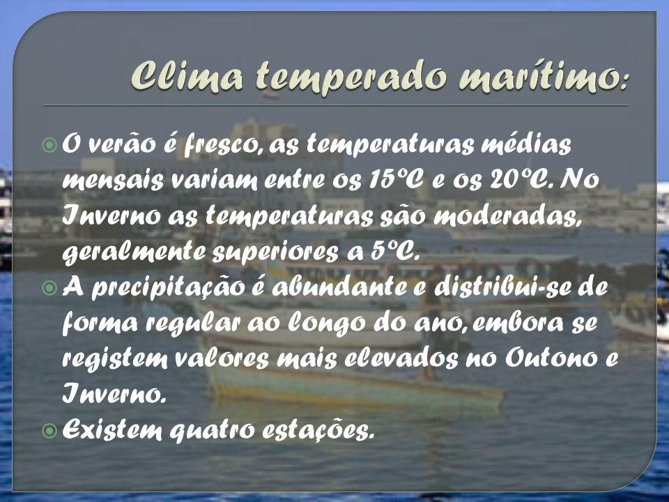 Clima temperado marítimo: