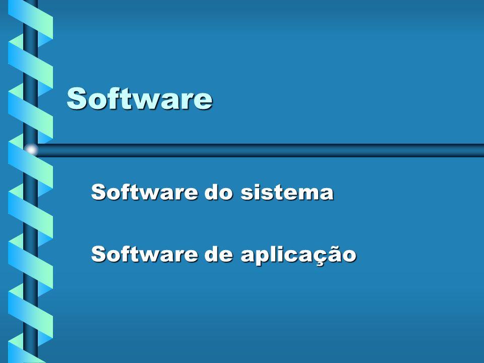 Software do sistema Software de aplicação