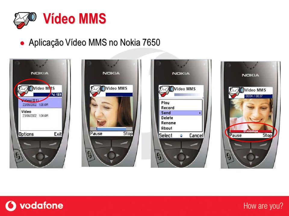 Vídeo MMS Aplicação Vídeo MMS no Nokia 7650 Video MMS Video MMS