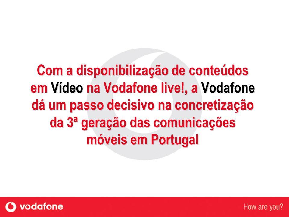 Com a disponibilização de conteúdos em Vídeo na Vodafone live