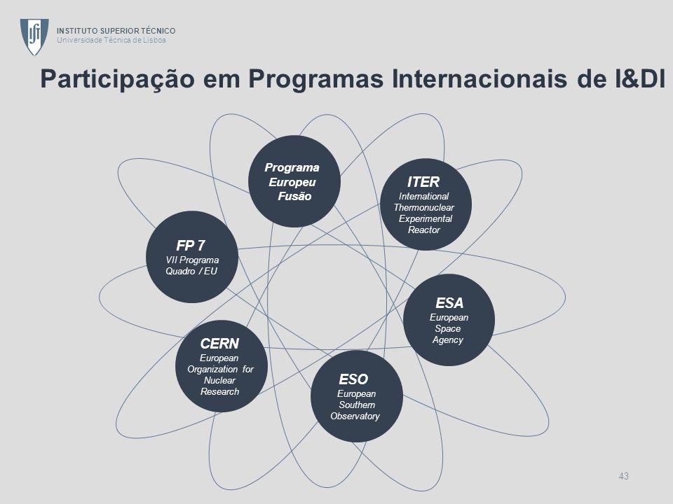 Participação em Programas Internacionais de I&DI