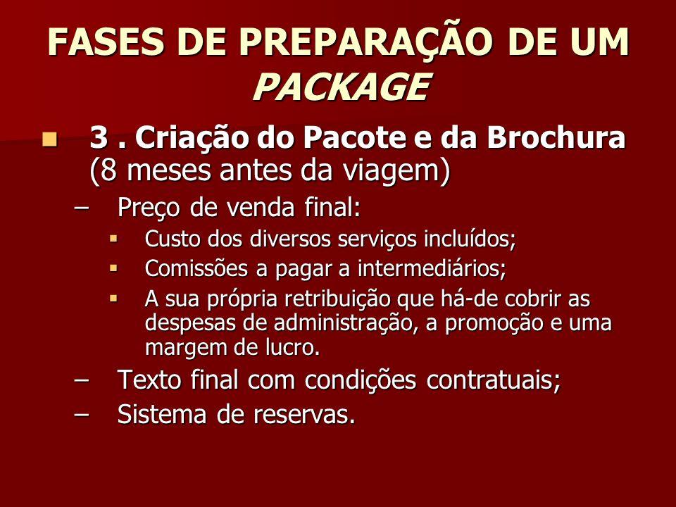 FASES DE PREPARAÇÃO DE UM PACKAGE